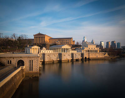 Philadelphia Art Museum And Waterworks Original by Aaron Couture