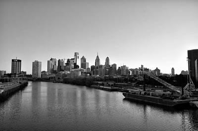 Phillies Digital Art - Philadelphia Black And White by Bill Cannon