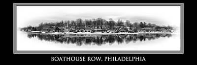 Philadelphia Boathouse Row In Winter Art Print
