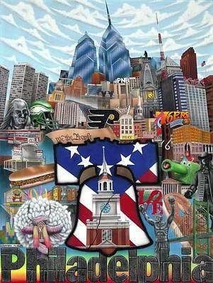 Philadelphia Pa Painting - Philadelphia by Brett Sauce