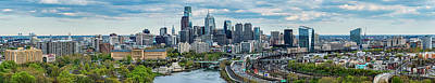 Philadelphia Center City, Schuylkill Art Print by Panoramic Images