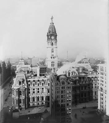 Philadelphia City Hall 1900 Print by Bill Cannon