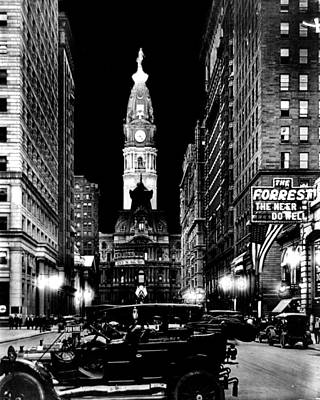 Philadelphia City Hall 1916 Art Print by Benjamin Yeager