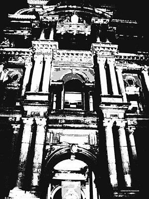 City Hall Digital Art - Philadelphia City Hall -bw Poster by Constantin Raducan