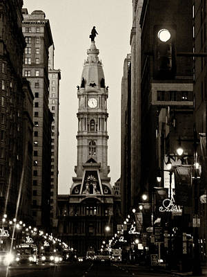 City Hall Photograph - Philadelphia City Hall by Louis Dallara