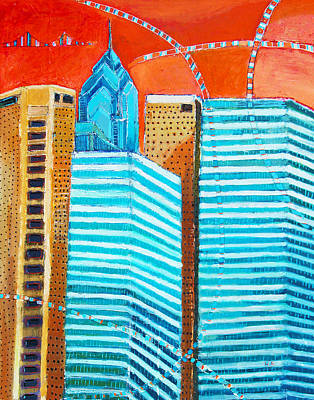 Philadelphia Cityscape Art Print
