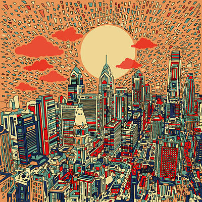 Mosaic Digital Art - Philadelphia Dream by Bekim Art