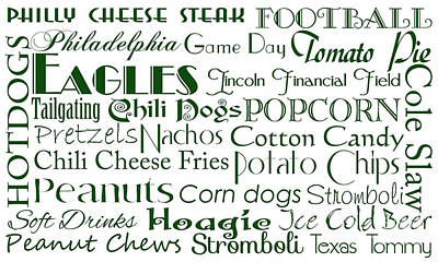 Digital Art - Philadelphia Eagles Game Day Food 1 by Andee Design