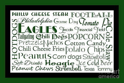 Digital Art - Philadelphia Eagles Game Day Food 2 by Andee Design