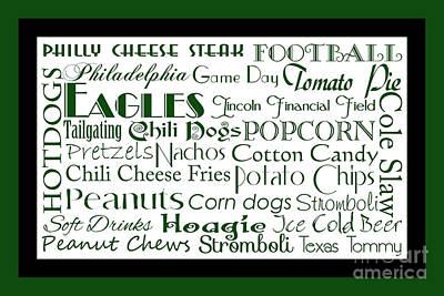 Digital Art - Philadelphia Eagles Game Day Food 2 by Andee Design