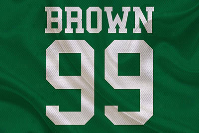 Philadelphia Eagles Jerome Brown Art Print by Joe Hamilton