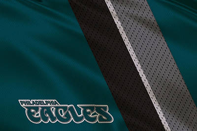 Philadelphia Eagles Uniform Art Print by Joe Hamilton