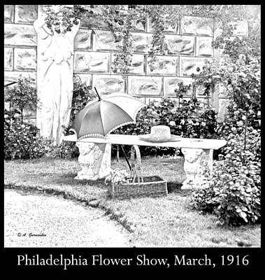 Philadelphia Flower Show Display 1916 Art Print