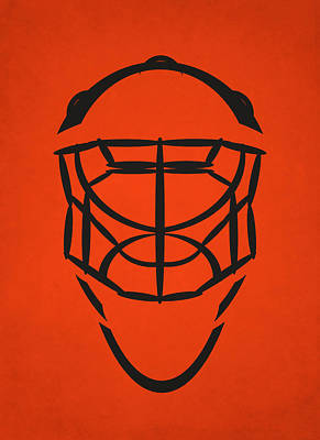 Philadelphia Flyers Photograph - Philadelphia Flyers Goalie Mask by Joe Hamilton