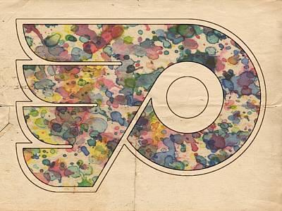 Philadelphia Flyers Painting - Philadelphia Flyers Hockey Poster by Florian Rodarte