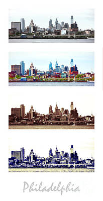 Phillies Photograph - Philadelphia Four Seasons by Olivier Le Queinec