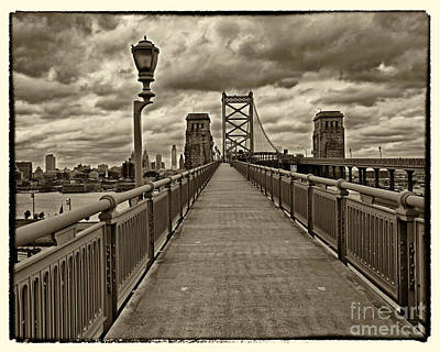 Philadelphia From Ben Franklin Bridge 1 Art Print by Jack Paolini