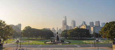Philadelphia From The Parkway - Panorama Art Print