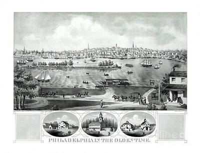 Old Philadelphia Drawing - Philadelphia In The Olden Time - 1875 by Pablo Romero