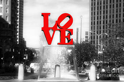 Philadelphia Love Fusion Art Print by John Rizzuto