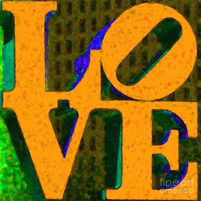 Philadelphia Love - Painterly V4 Art Print by Wingsdomain Art and Photography
