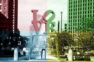 Photograph - Philadelphia Love Quad Colors by John Rizzuto