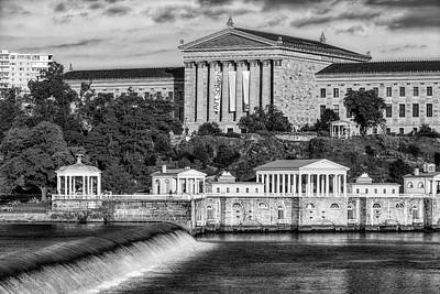 Photograph - Philadelphia Museum Of Art Bw by Susan Candelario