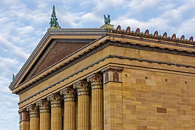 Photograph - Philadelphia Museum Of Art Column Details by Susan Candelario