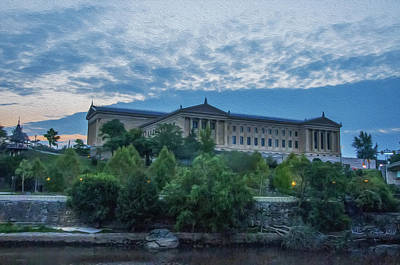 Philadelphia Museum Of Art From The South Side Art Print
