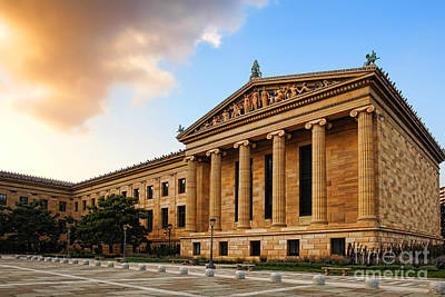Philadelphia Museum Of Art Print by Olivier Le Queinec