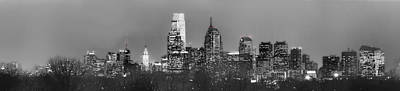 Philadelphia Nightline In Black And White Original by Richard Greenwood