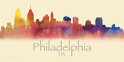 Digital Art - Philadelphia Pa Skyline I by Loretta Luglio