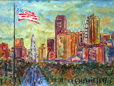 Philadelphia Skyline Painting - Philadelphia by Pamela Parsons