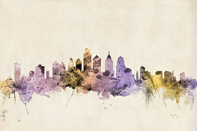 Philadelphia Pennsylvania Skyline Art Print