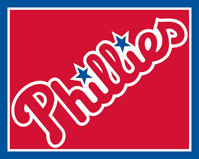 Philadelphia Phillies Baseball Print by Tony Rubino