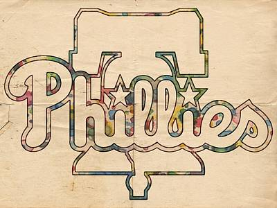 Painting - Philadelphia Phillies Logo Art by Florian Rodarte