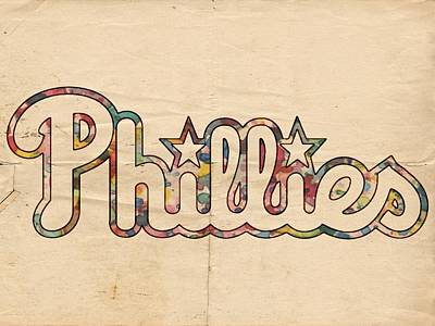 Philadelphia Phillies Painting - Philadelphia Phillies Poster Art by Florian Rodarte