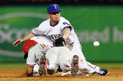 Photograph - Philadelphia Phillies V Texas Rangers by Tom Pennington
