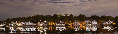 Philadelphia Reflections - Boathouse Row - Panorama Print by Bill Cannon