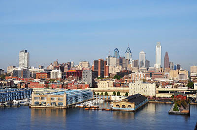Skyscapers Photograph - Philadelphia River View by Bill Cannon
