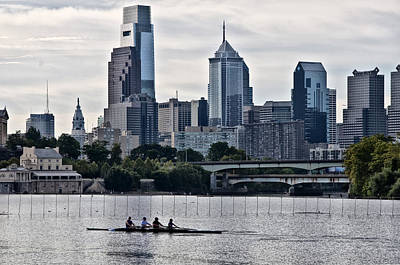 Waterworks Digital Art - Philadelphia Rowing Tradition by Bill Cannon