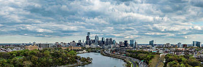 Philadelphia Skyline At Waterfront Art Print by Panoramic Images