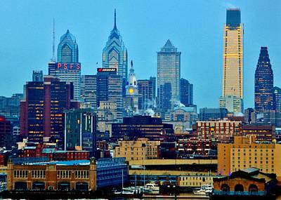 Philadelphia Skyline Photograph - Philadelphia Skyline by Benjamin Yeager
