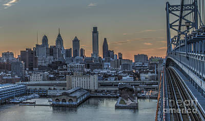 Philadelphia Skyline From Big Ben Art Print by Mark Ayzenberg