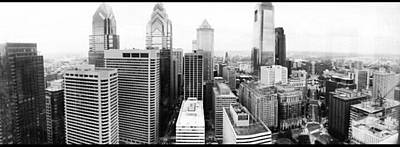 Photograph - Philadelphia Skyline In Black And White by Philip Grant
