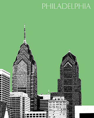 Towers Digital Art - Philadelphia Skyline Liberty Place 2 - Apple by DB Artist
