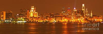 Photograph - Philadelphia Skyline Panorama by Adam Jewell