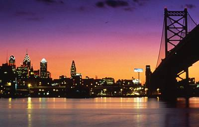 Philadelphia Skyline Photograph - Philadelphia Skyline by Retro Images Archive