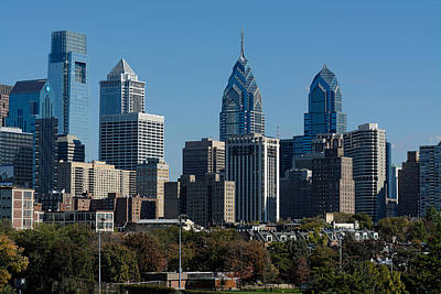 Photograph - Philadelphia Skyline by William Jobes