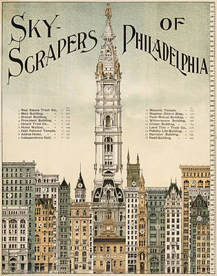 Philadelphia Skyscrapers Art Print by Georgia Fowler
